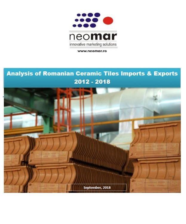 Importurile si exporturile de tigla ceramica in Romania - S1 2018 Analysis of Romanian Ceramic Tiles Imports & Exports 2012 - 2018 (S1)
