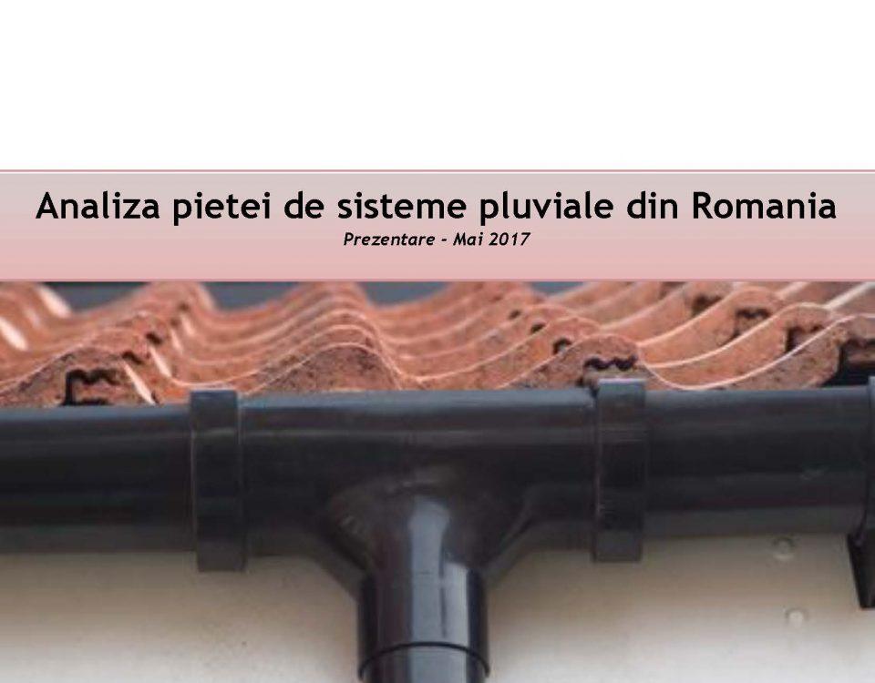Piata sistemelor pluviale din Romania, editia 2017