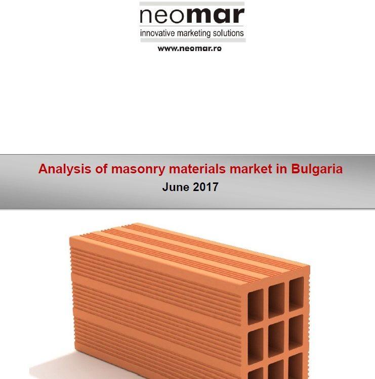 Piata Materialelor de Zidarie din Bulgaria - 2017