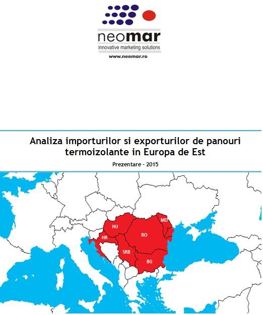 Importurile si exporturile de panouri sandwich in CEE - 2015