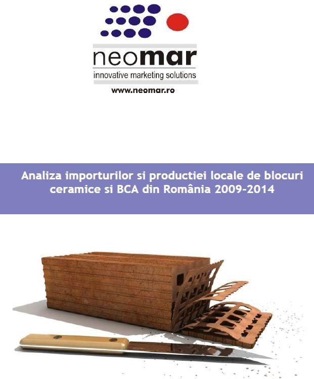 Analiza lunara a pietei materialelor de zidarie (2009-2015)