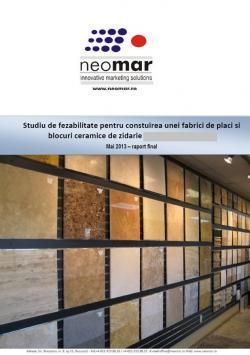 Studiu de fezabilitate - investitii in sectorul placilor ceramice