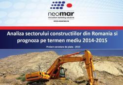 Sectorul constructiilor din Romania 2014-2015