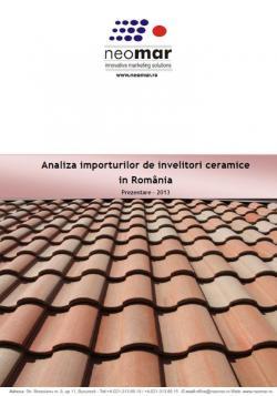 Importurile de tigla ceramica in Romania - 2013