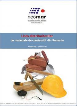 Peste 1.100 distribuitori de materiale de constructii din Romania.