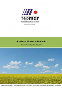 Piata romaneasca de biodiesel 2007-2015
