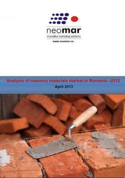 Analiza pietei materialelor de zidarie - editia 2014