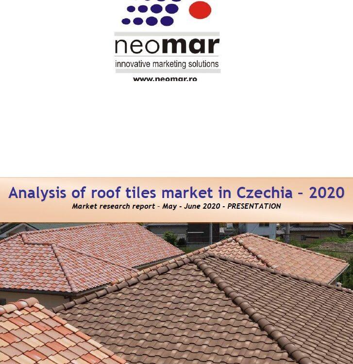 Piata invelitorilor pentru acoperis din Cehia, editia 2020 Analysis of roof tiles market in Czechia - 2020