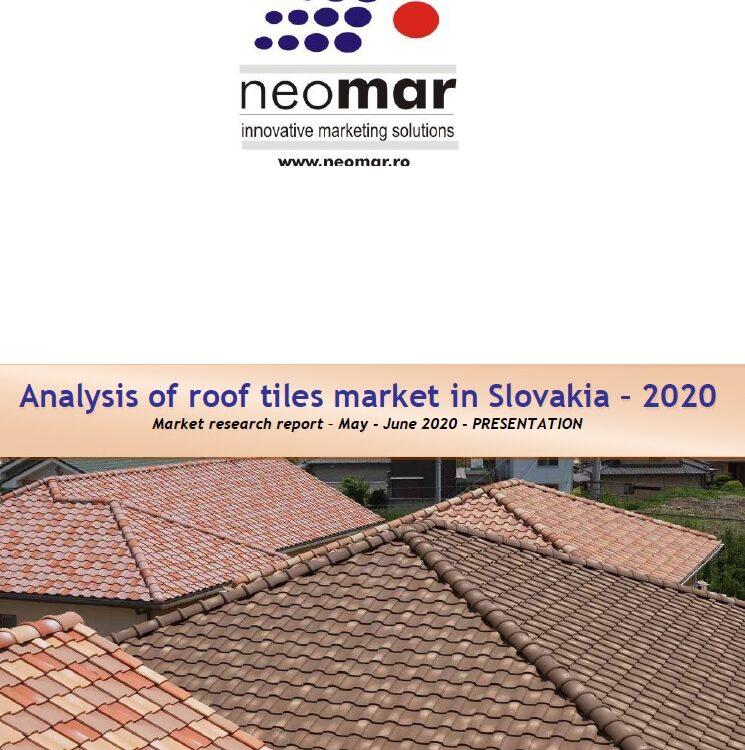 Piata invelitorilor pentru acoperis din Slovacia, editia 2020 Analysis of roof tiles market in Slovakia - 2020